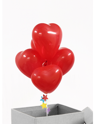 Mini red heart Balloon box
