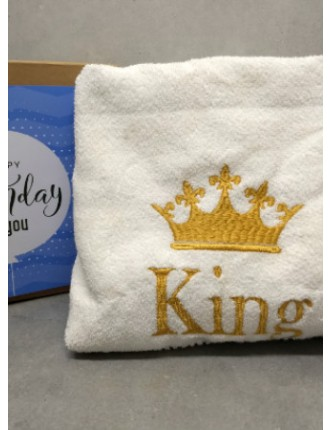 Personalized bath towel for adults