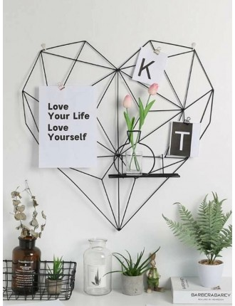 Heart Shaped Hang the photos frame with Storage Rack