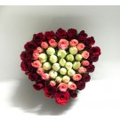 Heart shaped rose bouquet