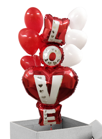 Love stack Helium balloon boxes