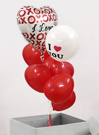 XOXO helium Balloon box