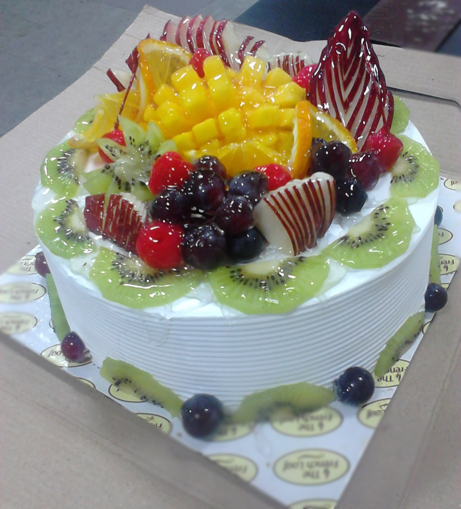 Fruit Ensemble Cake