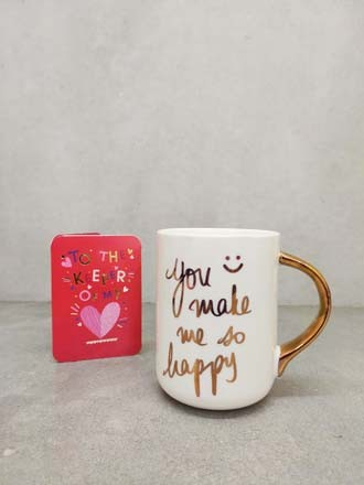 You make me Happy Mug