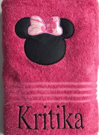Personalized bath towel for kids