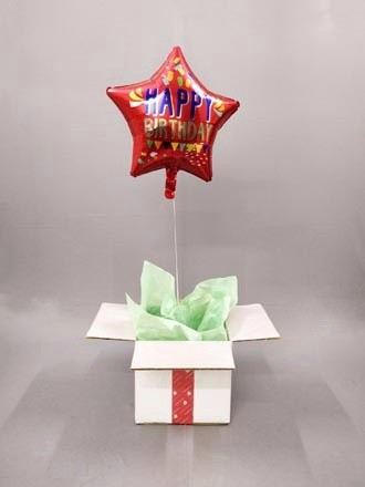Birthday Star dual color balloon