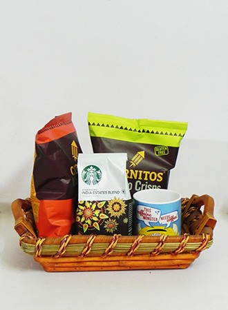 Starbucks hamper with basket